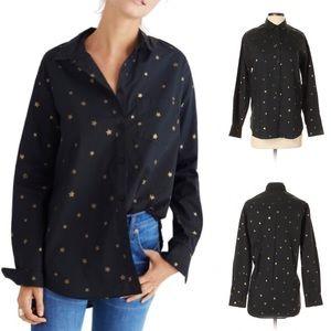 MADEWELL Oversize Ex-Boyfriend Shirt Star Print S